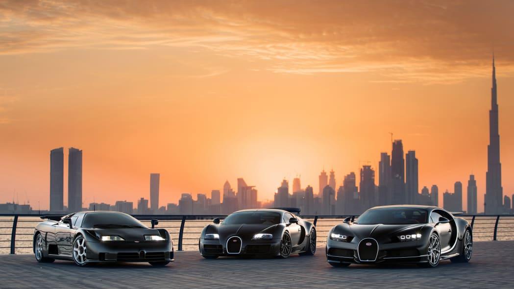 Bugatti EB110-Veyron-Chiron 1