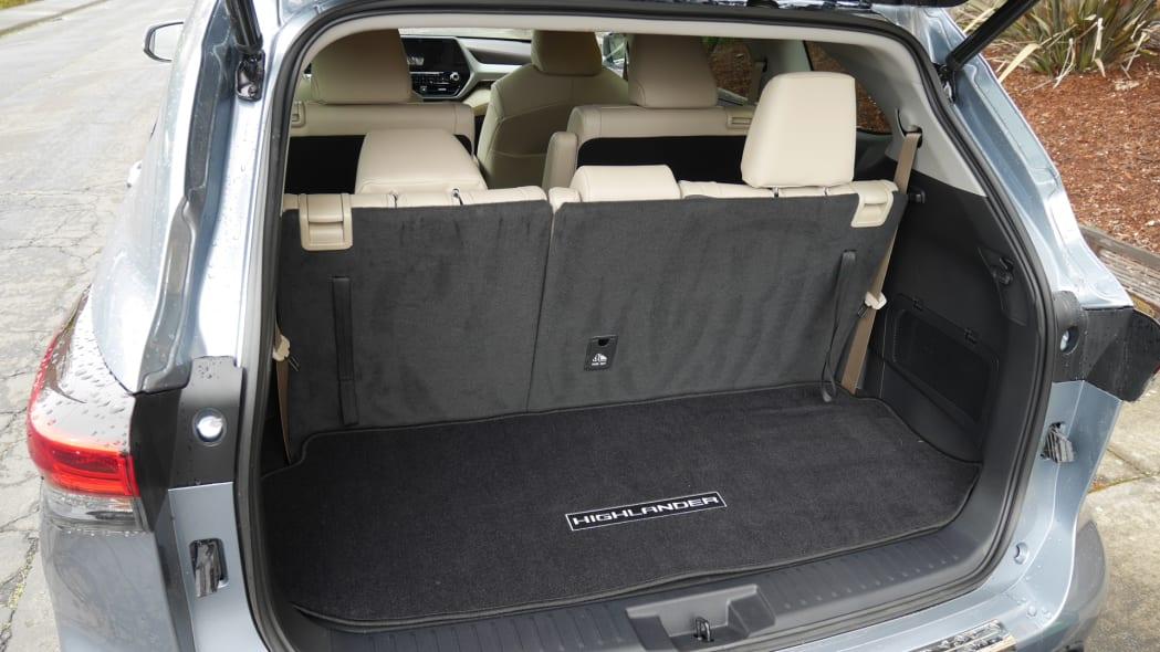 2020 Toyota Highlander third row comfortable recline