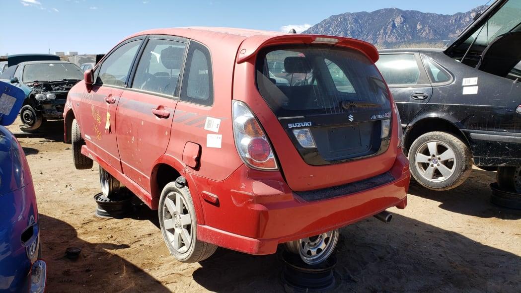 00 - 2005 Suzuki Aerio SWT in Colorado Junkyard - photo by Murilee Martin