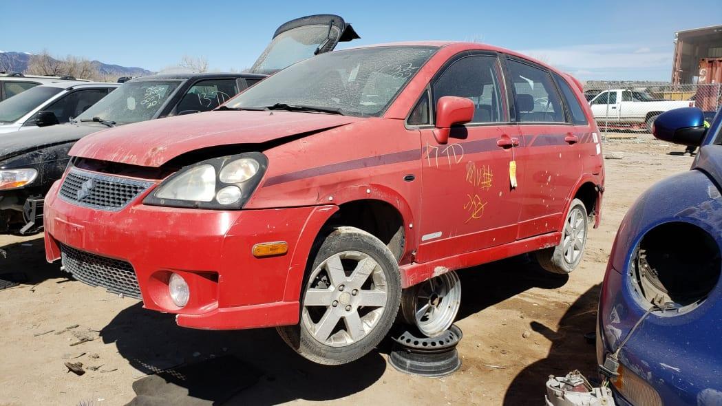 28 - 2005 Suzuki Aerio SWT in Colorado Junkyard - photo by Murilee Martin