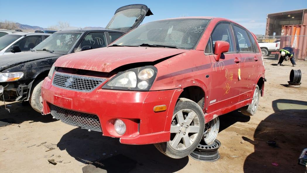 30 - 2005 Suzuki Aerio SWT in Colorado Junkyard - photo by Murilee Martin