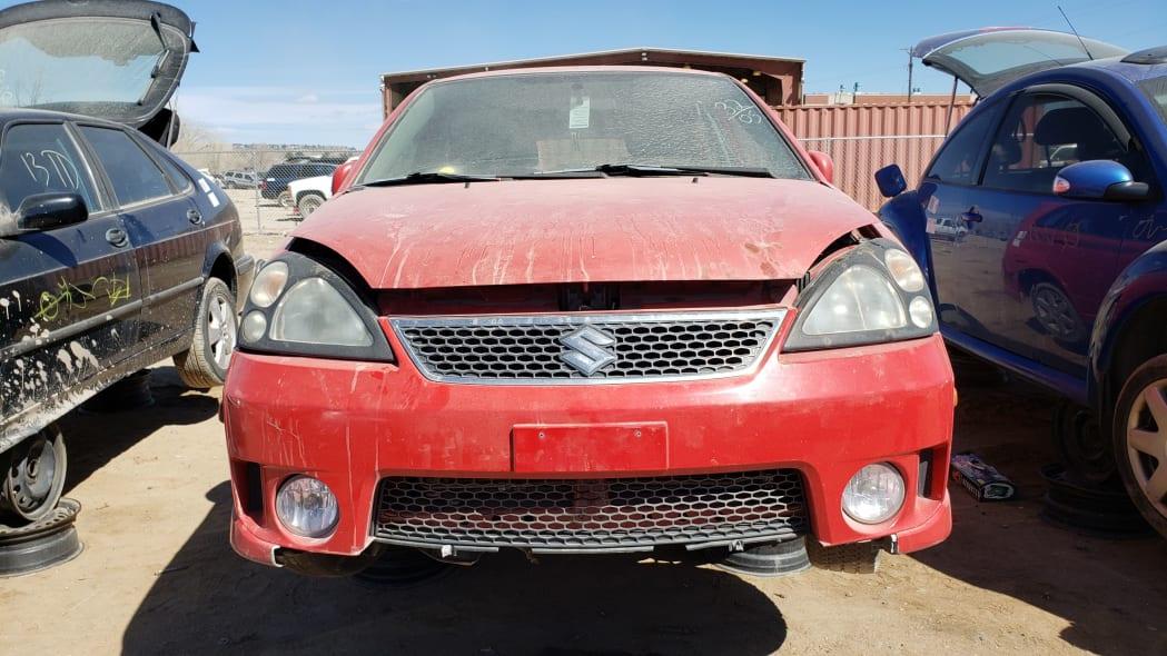 32 - 2005 Suzuki Aerio SWT in Colorado Junkyard - photo by Murilee Martin