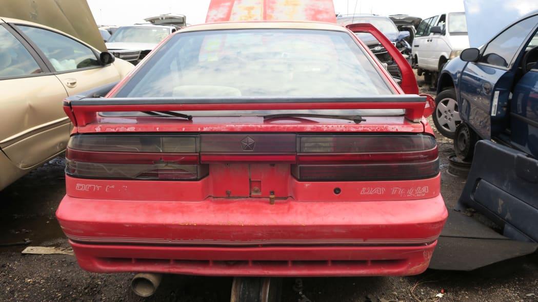 06 - 1990 Dodge Daytona Shelby in Colorado Junkyard - photo by Murilee Martin