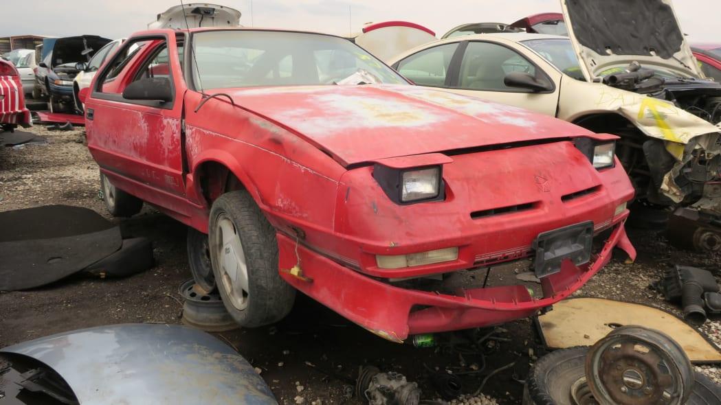 26 - 1990 Dodge Daytona Shelby in Colorado Junkyard - photo by Murilee Martin