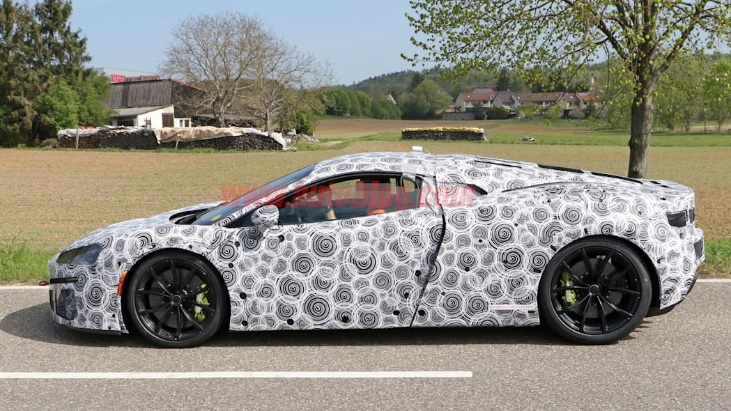 McLaren hybrid spied