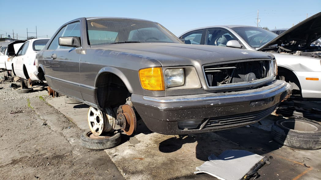 27 - 1983 Mercedes-Benz 380 SEC in California Junkyard - photo by Murilee Martin