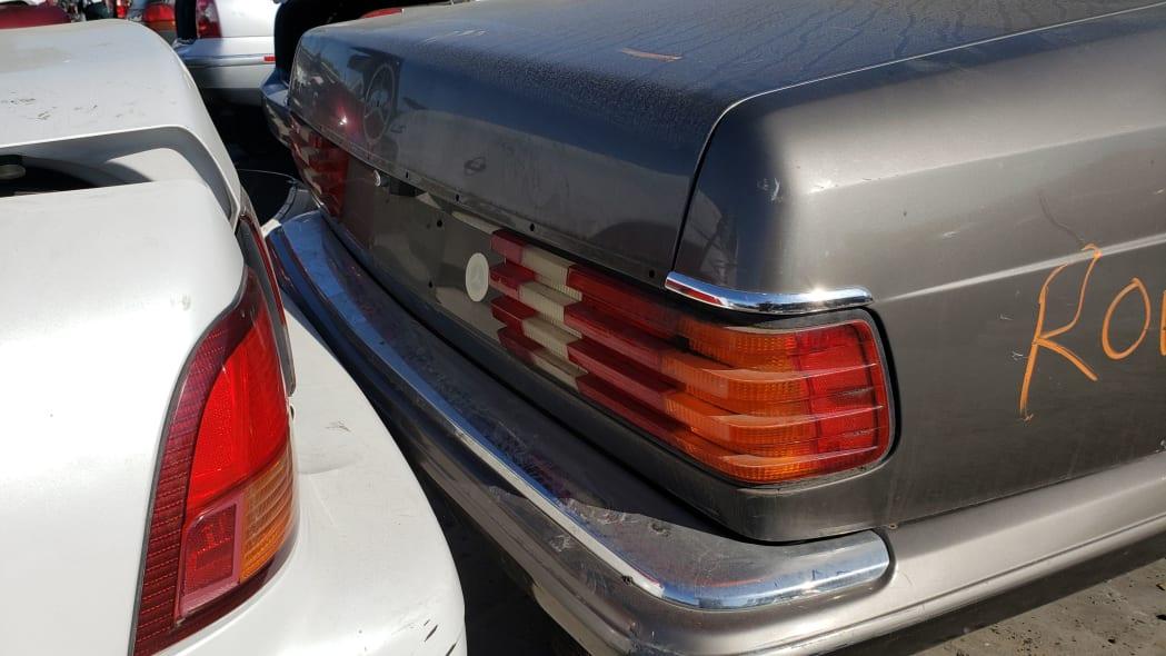 34 - 1983 Mercedes-Benz 380 SEC in California Junkyard - photo by Murilee Martin