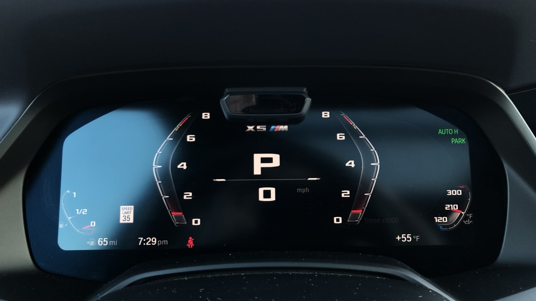 2020 BMW X5 M Competition drive modes