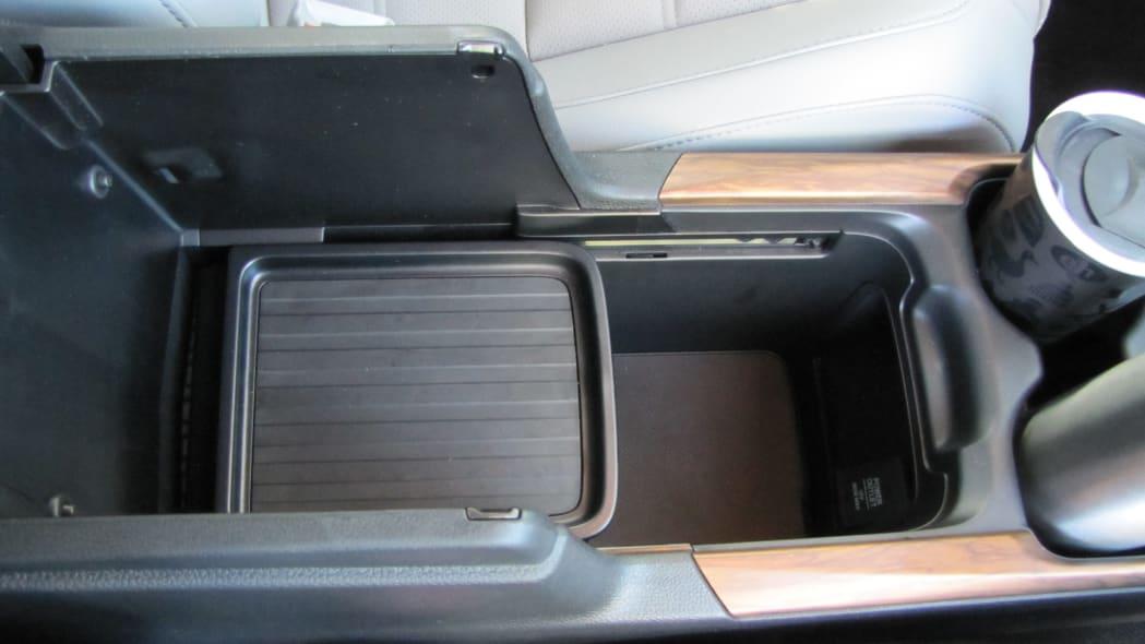 2020 Honda CR-V Interior Storage center console bin half open