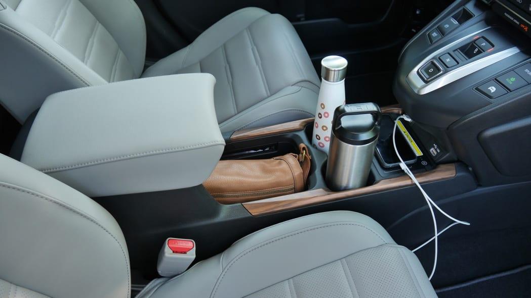 2020 Honda CR-V Interior Storage center console with items