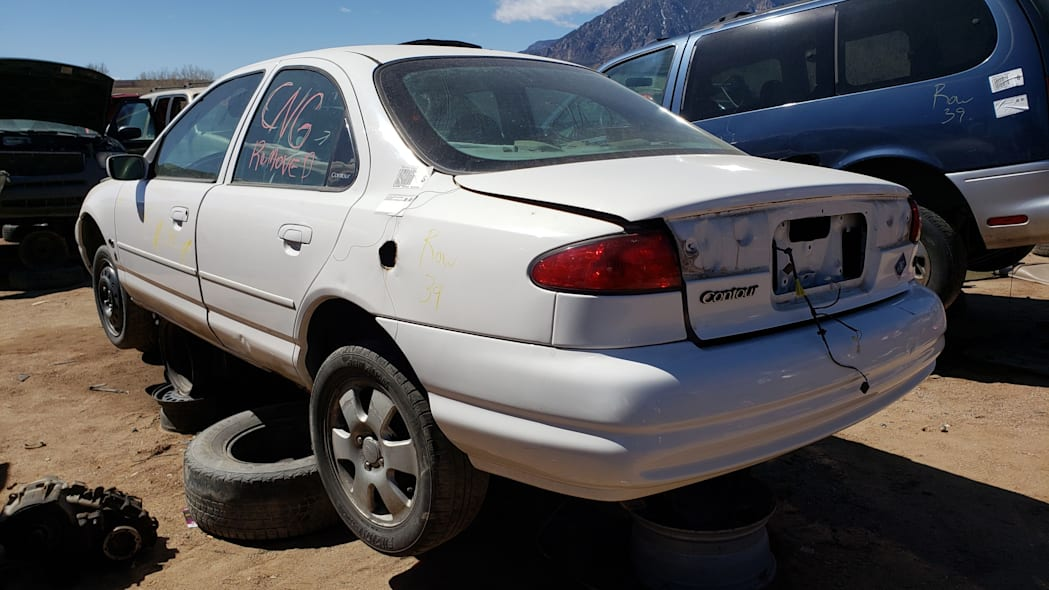 36 -1999 Ford Contour CNG in Colorado Junkyard - photo by Murilee Martin