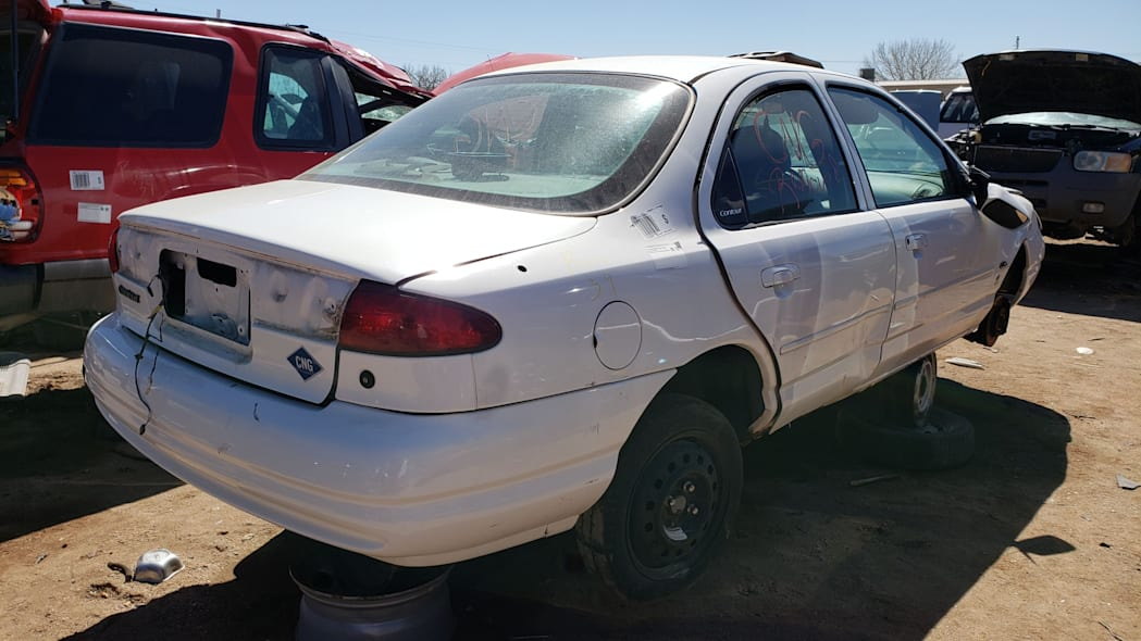 39 -1999 Ford Contour CNG in Colorado Junkyard - photo by Murilee Martin