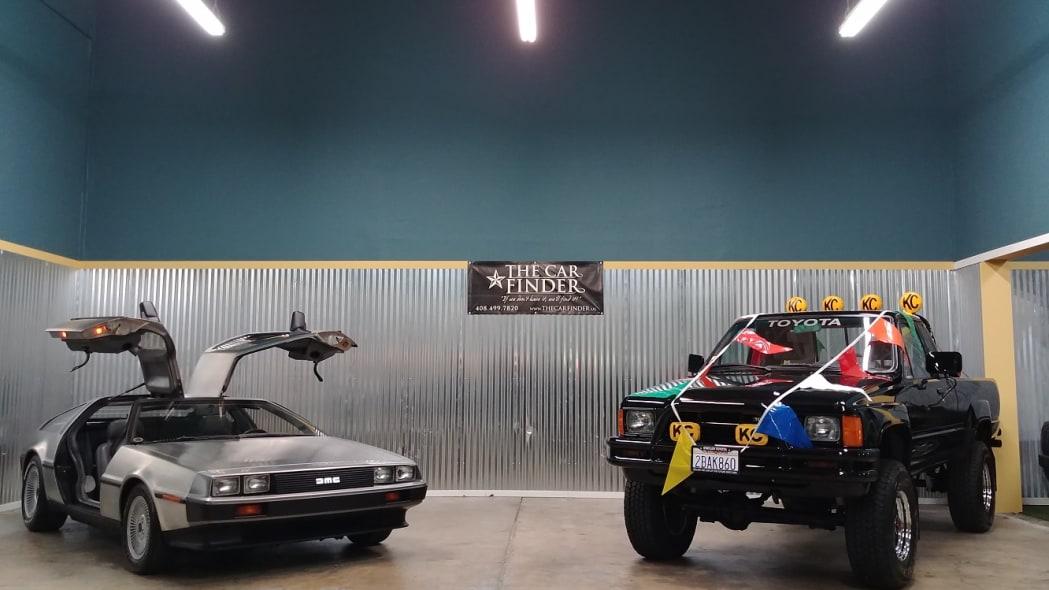1981 DeLorean and 1985 Toyota truck