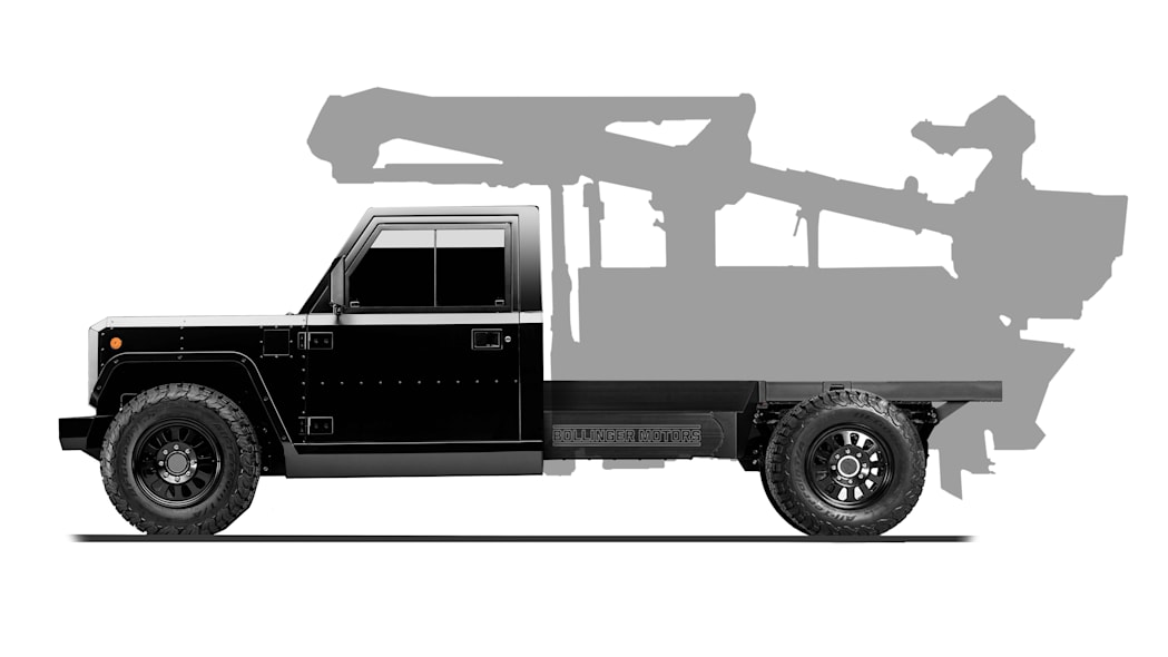 Bollinger Motors B2 Chassis Cab Bucket Truck