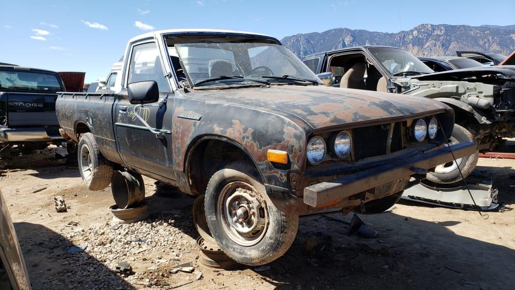 00 -1976 Datsun 620 Pickup Truck in Colorado Junkyard - photo by Murilee Martin