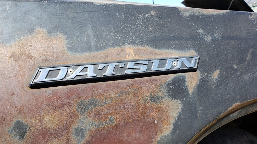 02 -1976 Datsun 620 Pickup Truck in Colorado Junkyard - photo by Murilee Martin