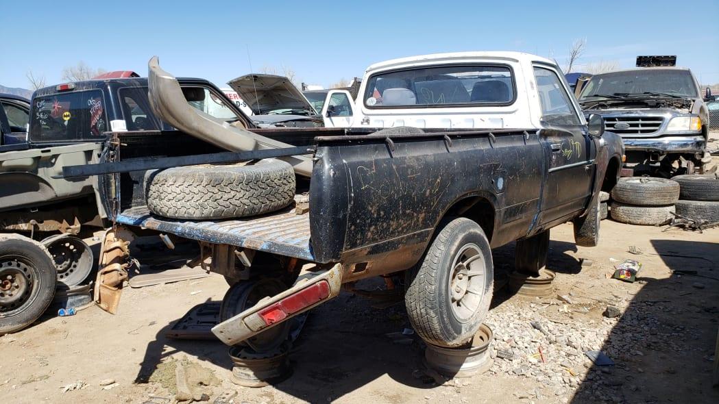 28 -1976 Datsun 620 Pickup Truck in Colorado Junkyard - photo by Murilee Martin