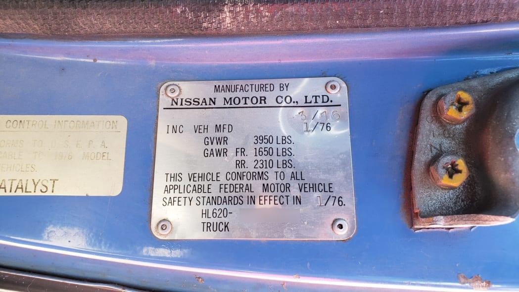 38 -1976 Datsun 620 Pickup Truck in Colorado Junkyard - photo by Murilee Martin