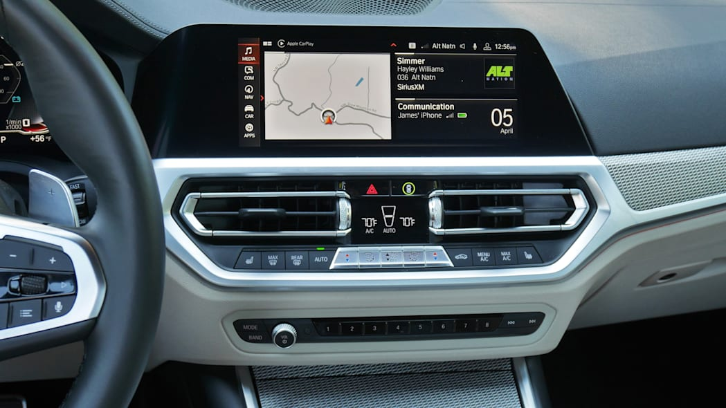 2020 BMW M340i center stack
