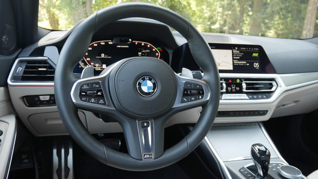 2020 BMW M340i steering wheel