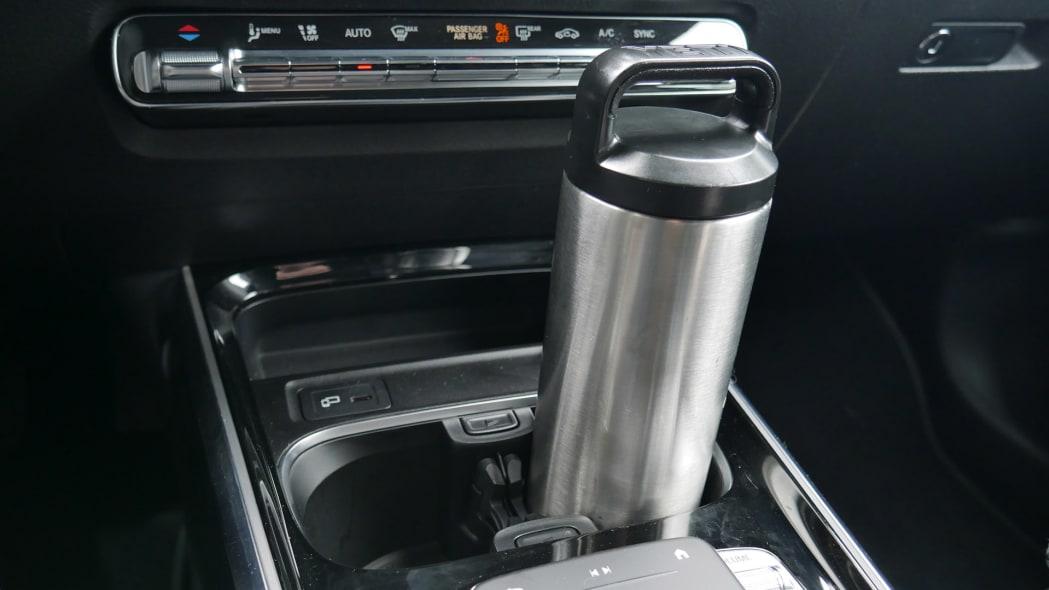 Mercedes GLB Interior Storage front cupholder yeti