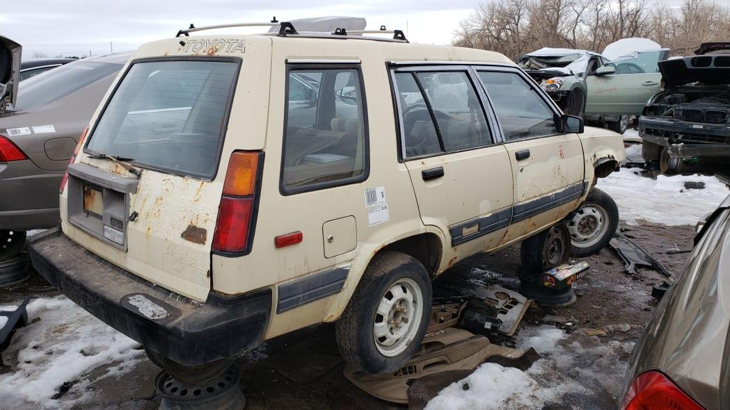 00 - 1983 Toyota Tercel 4WD Wagon in Colorado Junkyard - photo by Murilee Martin