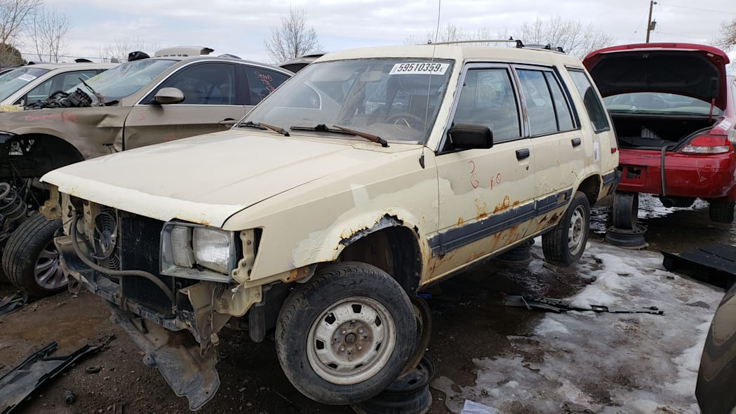 33 - 1983 Toyota Tercel 4WD Wagon in Colorado Junkyard - photo by Murilee Martin