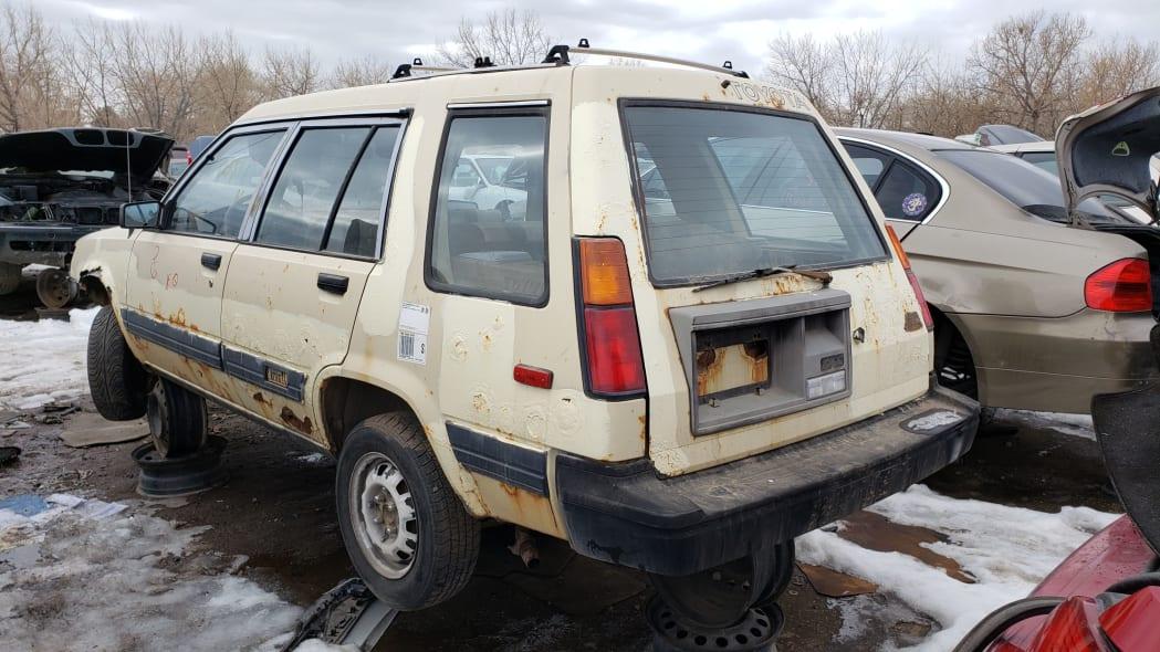 54 - 1983 Toyota Tercel 4WD Wagon in Colorado Junkyard - photo by Murilee Martin