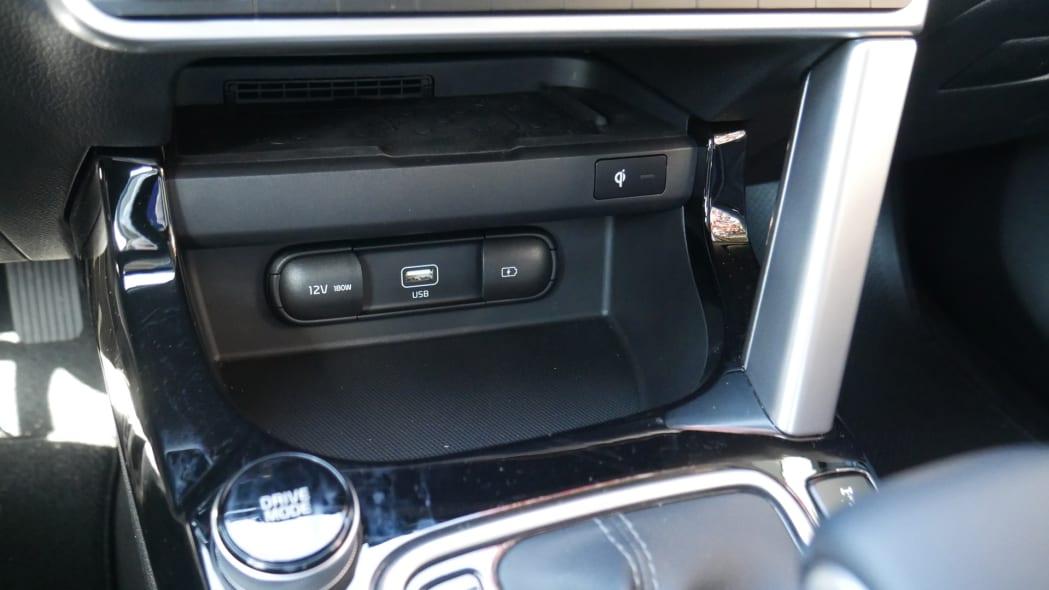 2021 Kia Seltos interior smartphone bin