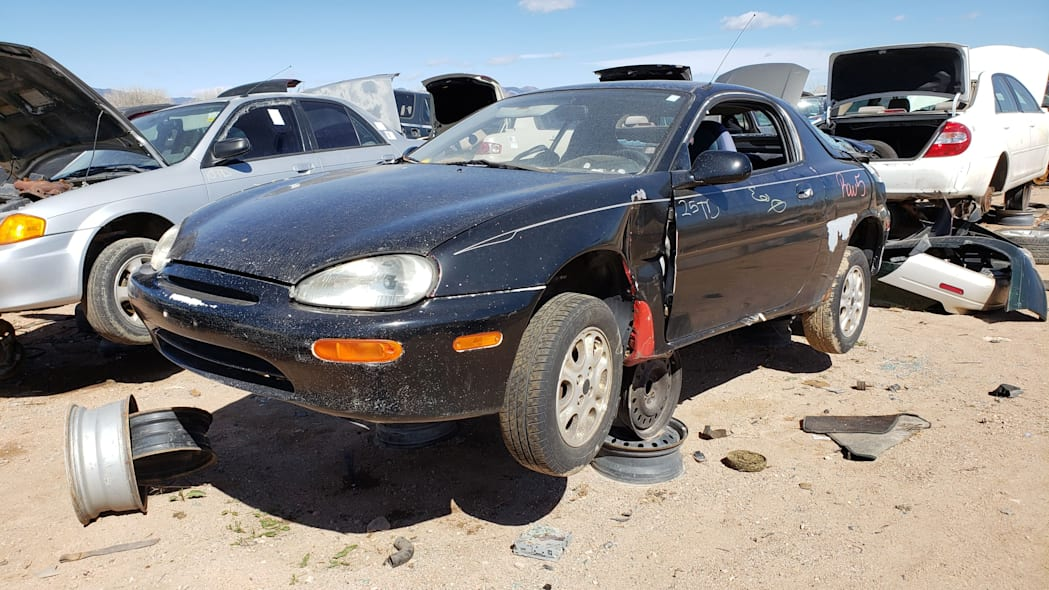 00 - 1993 Mazda MX-3 in Colorado Junkyard - photo by Murilee Martin