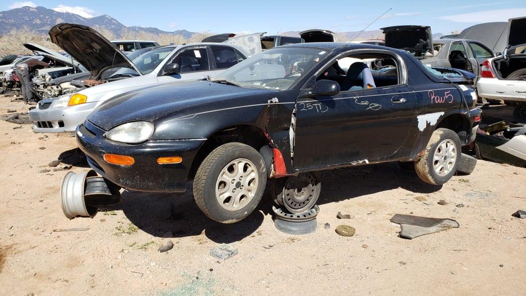21 - 1993 Mazda MX-3 in Colorado Junkyard - photo by Murilee Martin