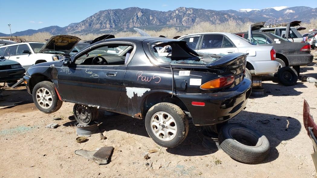 27 - 1993 Mazda MX-3 in Colorado Junkyard - photo by Murilee Martin