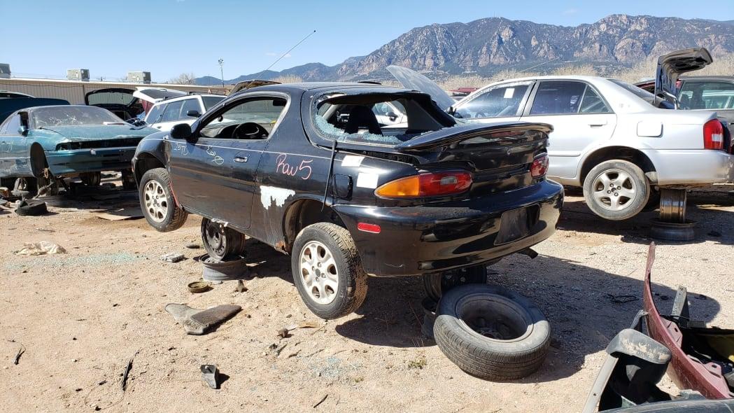 28 - 1993 Mazda MX-3 in Colorado Junkyard - photo by Murilee Martin