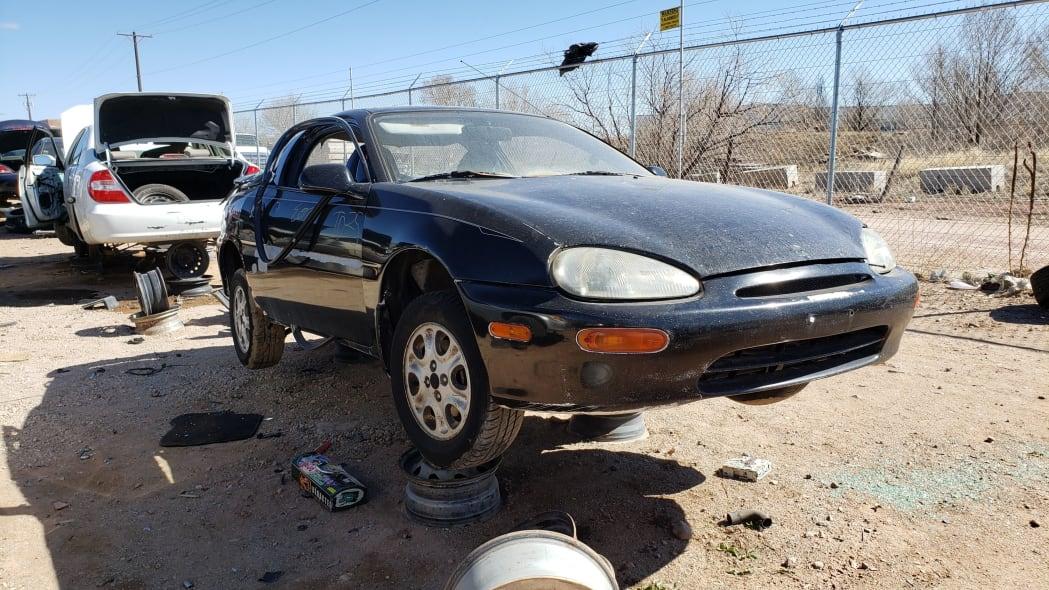 37 - 1993 Mazda MX-3 in Colorado Junkyard - photo by Murilee Martin