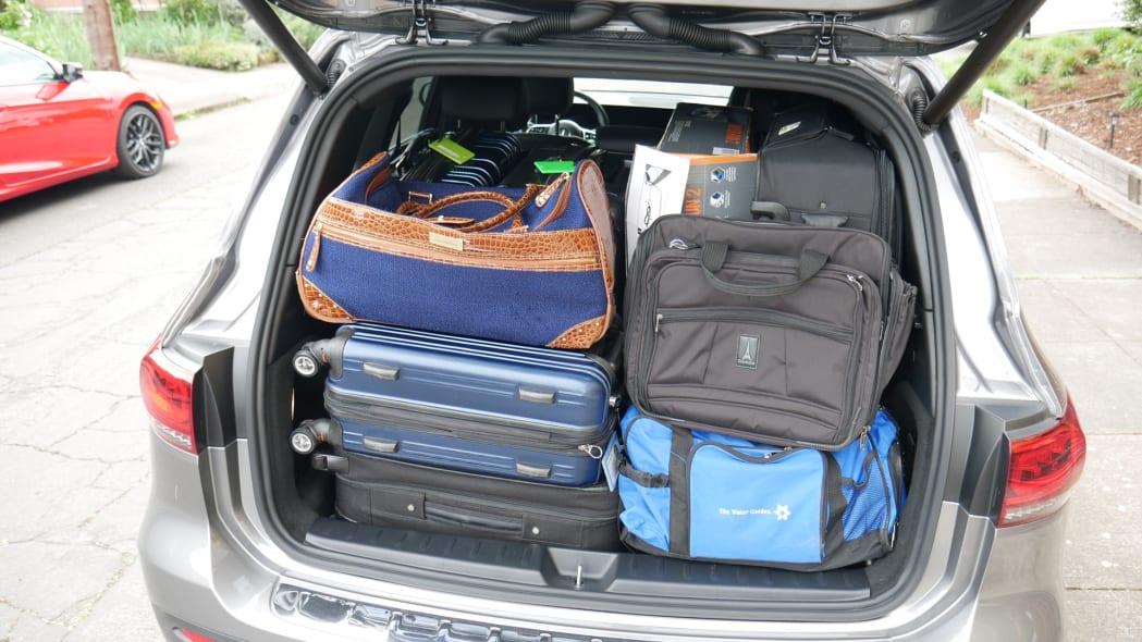 2020 Mercedes GLB Luggage Test totally full