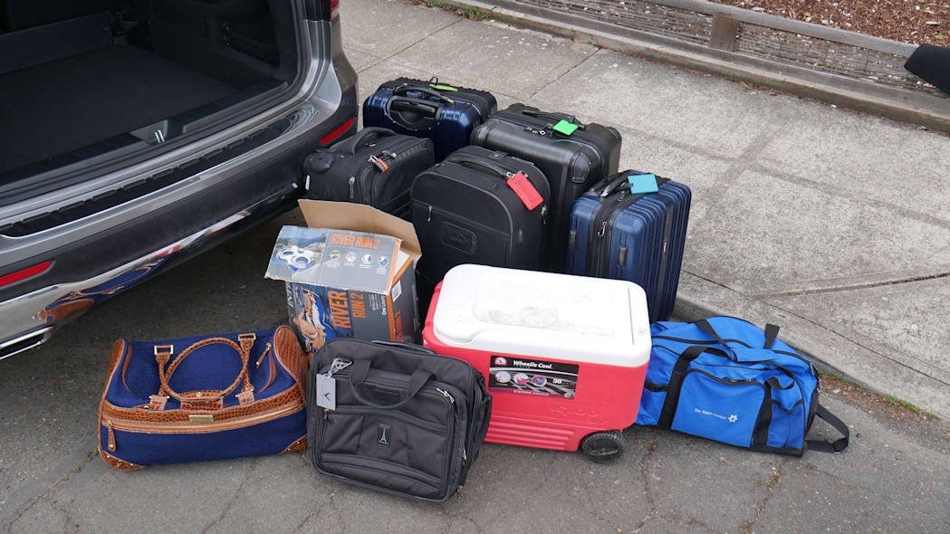 2020 Mercedes GLB Luggage Test all the bags