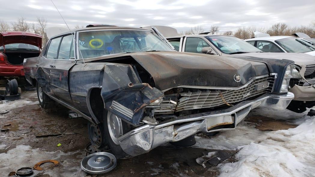 72 - 1967 Cadillac Fleetwood in Colorado Junkyard - photo by Murilee Martin