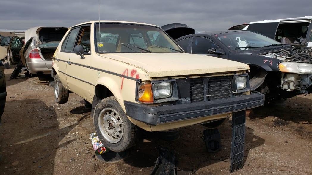34 - 1985 Plymouth Horizon in Colorado Junkyard - photo by Murilee Martin
