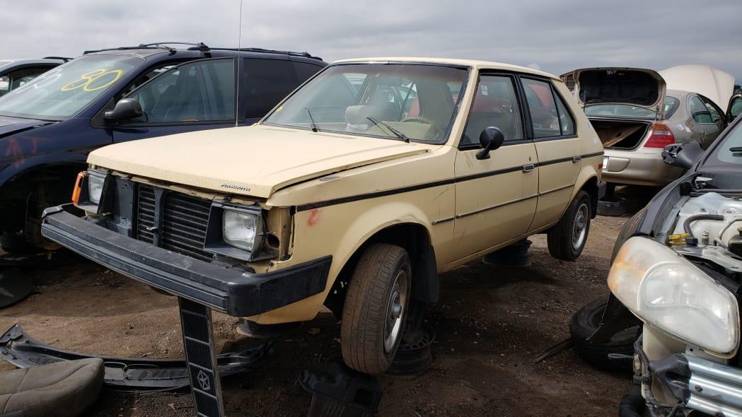 42 - 1985 Plymouth Horizon in Colorado Junkyard - photo by Murilee Martin