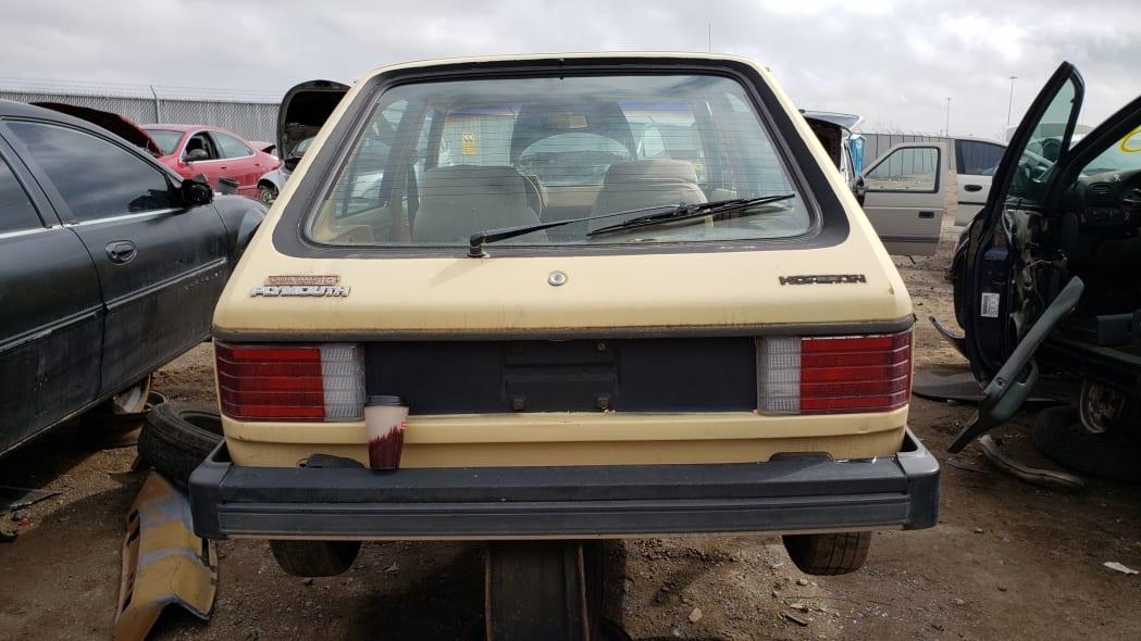 45 - 1985 Plymouth Horizon in Colorado Junkyard - photo by Murilee Martin