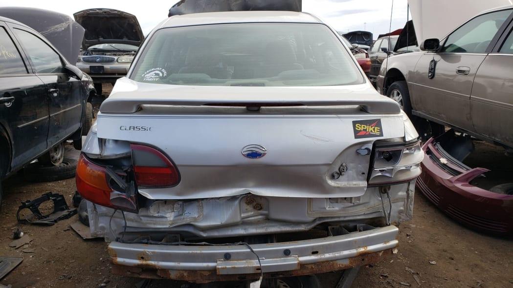 27 - 2004 Chevrolet Classic in Colorado Junkyard - photo by Murilee Martin