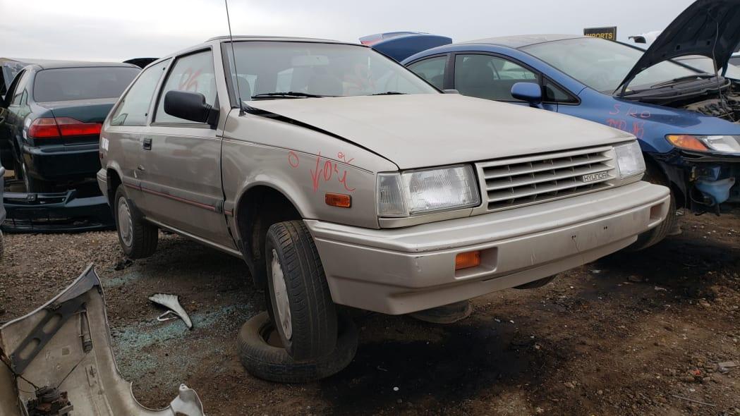 00 - 1989 Hyundai Excel GL in Colorado Junkyard - photo by Murilee Martin