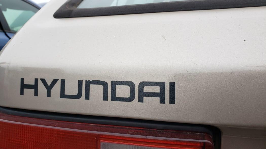 08 - 1989 Hyundai Excel GL in Colorado Junkyard - photo by Murilee Martin