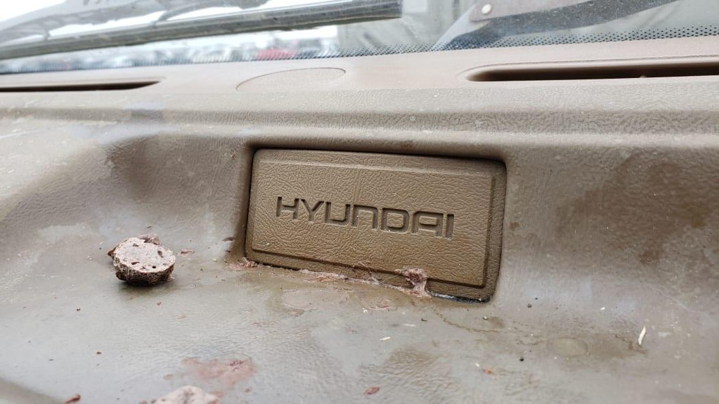 11 - 1989 Hyundai Excel GL in Colorado Junkyard - photo by Murilee Martin