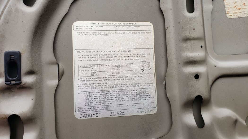 26 - 1989 Hyundai Excel GL in Colorado Junkyard - photo by Murilee Martin