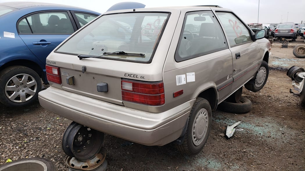 37 - 1989 Hyundai Excel GL in Colorado Junkyard - photo by Murilee Martin