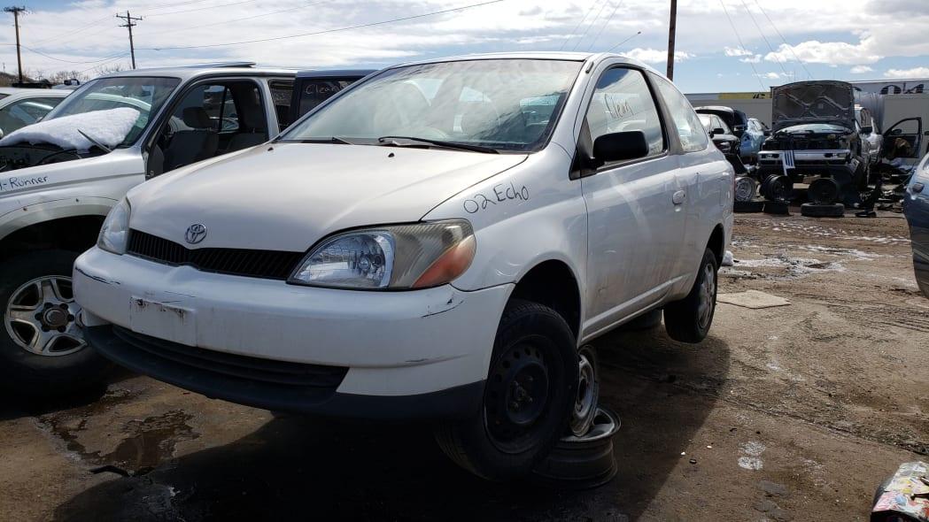 19 - 2002 Toyota Echo in Colorado Junkyard - photo by Murilee Martin