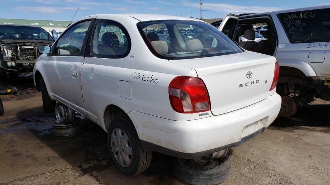 21 - 2002 Toyota Echo in Colorado Junkyard - photo by Murilee Martin