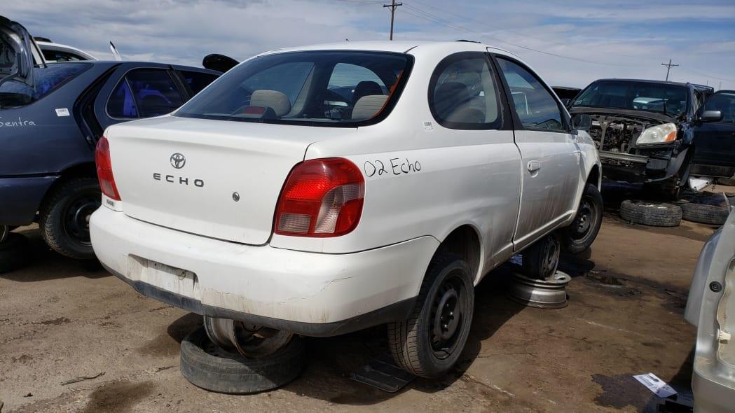 25 - 2002 Toyota Echo in Colorado Junkyard - photo by Murilee Martin