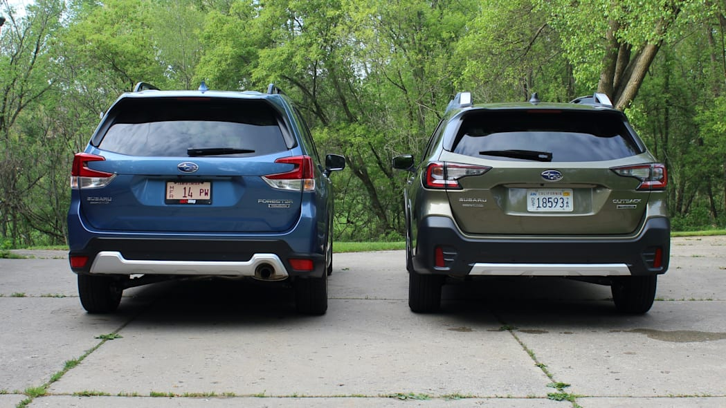 Subaru Outback and Forester rear hatch closed